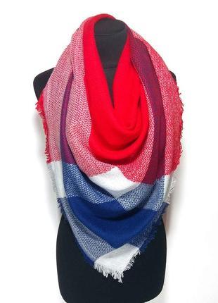 Косынка бактус платок шаль шерсть шерстяной мохер красный нежный новый качественный