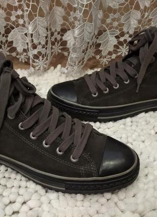 Зимние замшевые кеды,ботинки converse 45р