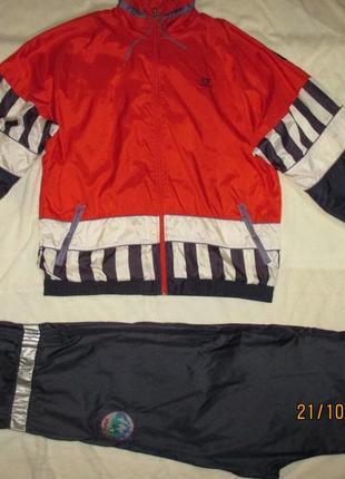 Спортивный качественный костюм на подкладке,на высокий рост,l xl