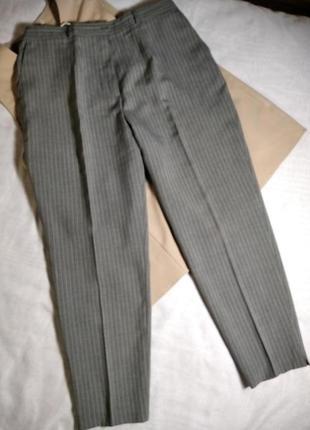 Классные зауженные брюки на высокой посадке большого размера bexleys