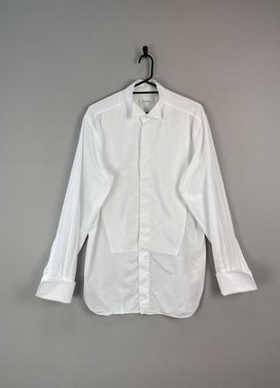 Сорочка біла класична ermenegildo zegna на запонки як tom fiord, gocci