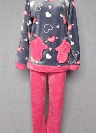 Пижама варежка. полотно вельсофт