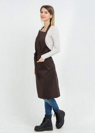 Фартух latte подовжений коричневий / фартук