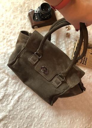 Женская сумка, натуральный замш!