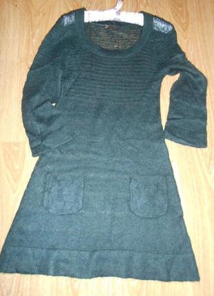 #распродажа! ! !#mango#ажурное вязанное платье #туника #