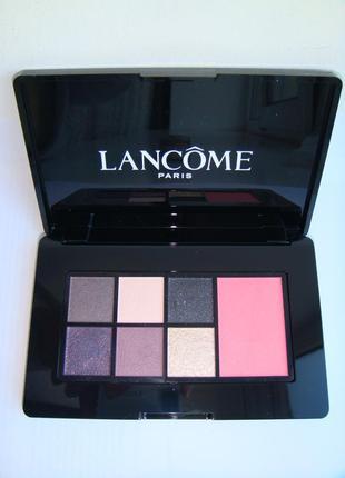 Палетка теней и румян lancome glam look-cool palette- night