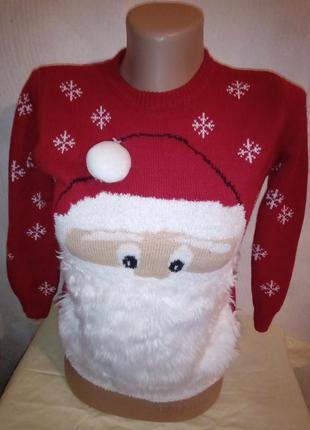 Новогодняя кофта дед мороз george свитер на новый год