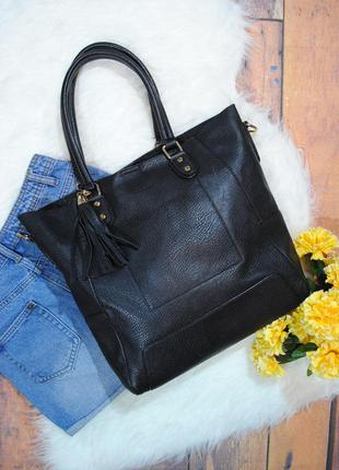Черная сумка-шоппер