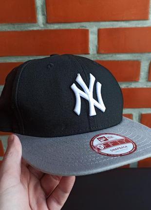 New era ny чёрная мужская кепка бейсболка снепбек бу