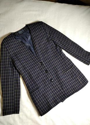 Модный удлиненный демисезонный пиджак жакет 60% шерсть alexon