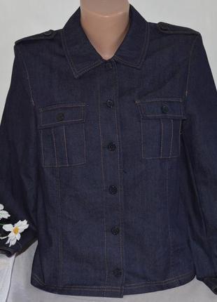 Брендовая джинсовая рубашка с карманами k.o.m.b.i