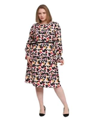 Платье сукня миди в анималистический принт george батал р.54 укр.