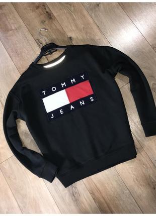 Кофта світшот tommy jeans оригінал розмір м big logo