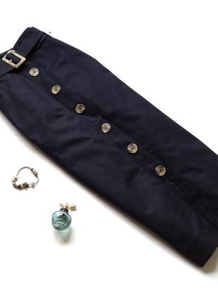 Темно-синяя юбка миди marks&spencer