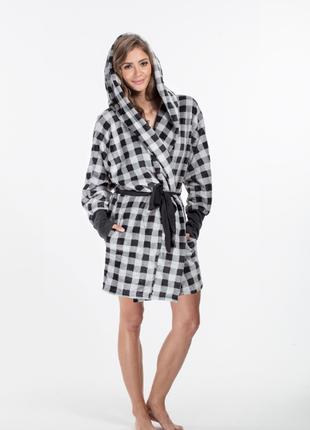 Женский халат eva серый envie