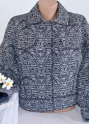 Брендовая коттоновая куртка пиджак жакет с карманами per una болгария navy этикетка