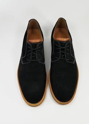 Clarks made in india черные мужские кожаные туфли