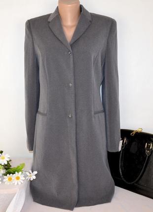 Брендовый серый удлиненный пиджак жакет с карманами next гонконг купро этикетка