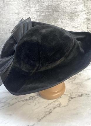 Шляпка стильная, бархатная, england