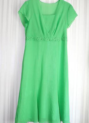 Новое нарядное шифоновое платье