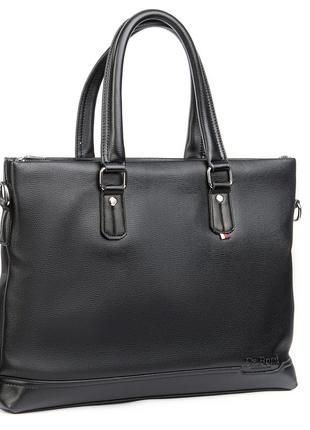 Деловая сумка-портфель для документов,одно отделение, закрывается на молнию