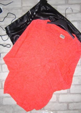 Крутой свитер сетка крупной вязки