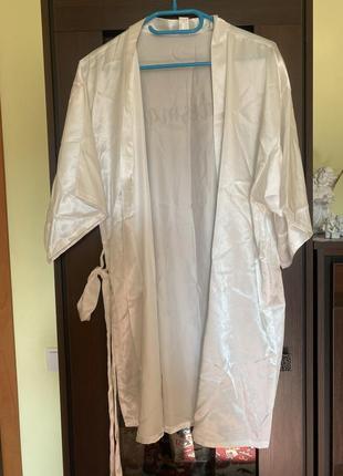 Белый халат для невесты asos