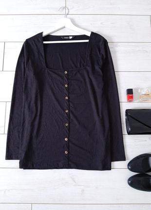 Базовая кофточка_блуза в рубчик