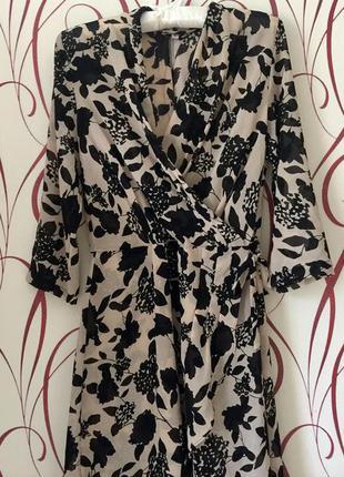 Оригинальное шифоновое платье-туника в состоянии новой вещи