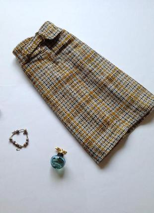 Теплая шерстяная юбка marks&spencer