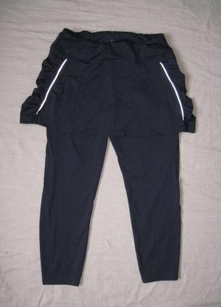 Marks & spencer (l/16) спортивные бриджи тайтсы с юбкой