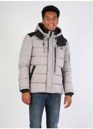 Демисезонная куртка пуховик c шерстяными вставками
