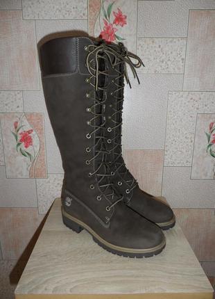 Демисезонные кожаные сапоги, ботинки timberland, 36р.-37р., 23см.