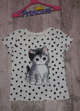 Красивая футболочка с котиком