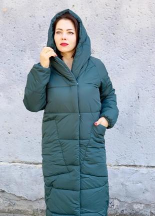 Довга зимова оверсайз куртка курточка пальто ковдра одіяло одеяло
