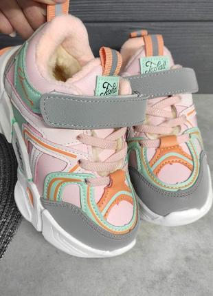 Утеплені кросівки на дівчинку / телпые кроссовки