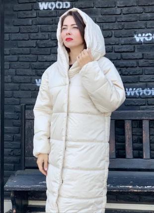 Зимова куртка пальто пуховик ковдра оверсайз одеяло плащівка