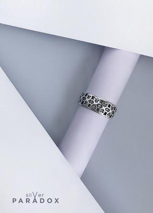 Кольцо серебро 925 голубой циркон