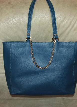 Фирменная сумка из натуральной кожи l.credi италия