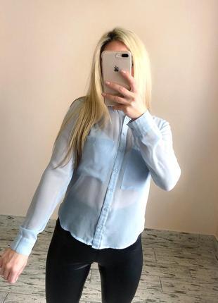Голубая блуза блузка bershka
