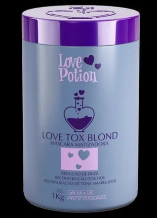 Ботокс для волос love potion love tox blond 1000 мл