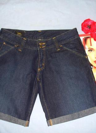 Женские шорты джинсовые размер 46 / 12 w31 средней длины модные темно-синие