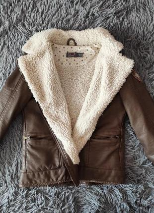 ❗кожаная куртка осень-зима на меху