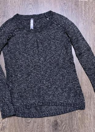 Легкий свитер чёрный  свитерок