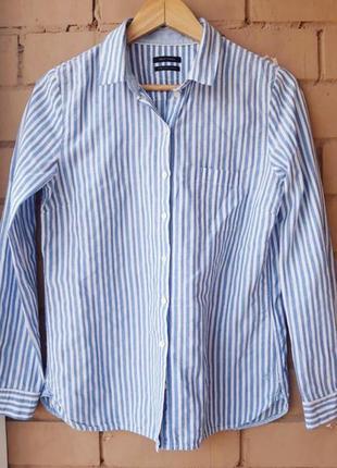 Котоновая женская рубашка в полоску mark o'polo