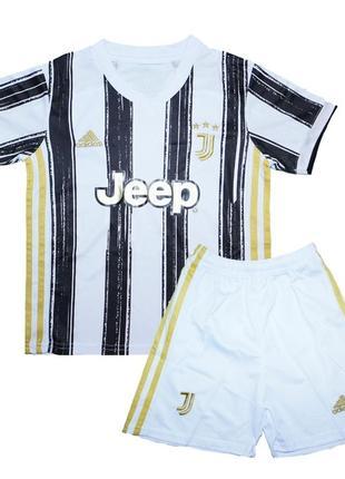 Футбольная форма ювентуса детская adidas 20-21 домашняя (3035)