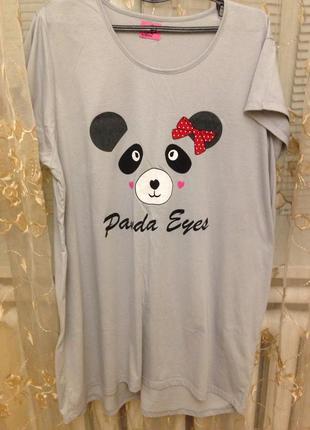 Милая ночнушка в принт панда