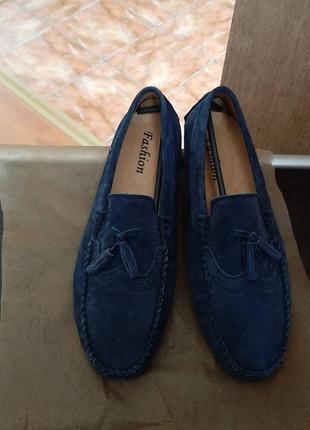 Мужские туфли из натуральной замши 40(27см)