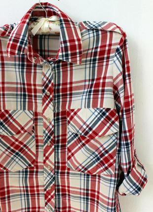 Женская рубашка zara в клеточку
