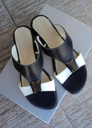 Шлепанцы шлепки lady boots натуральная кожа 37,38,39 рр
